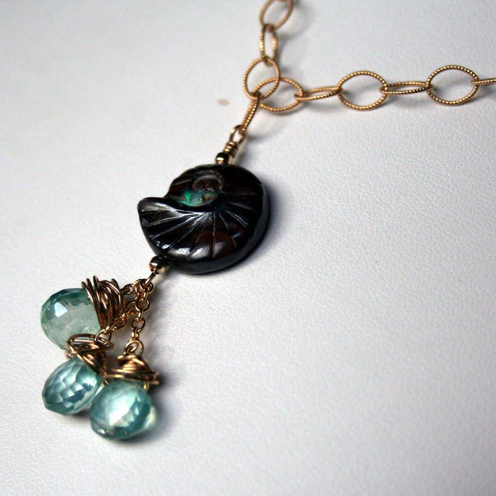 Boulder opal broken teepee for Rebel designs jewelry sale
