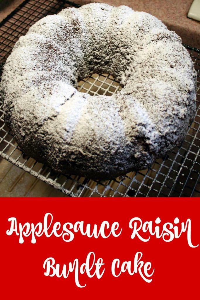 applesauce raisin bundt cake