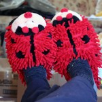Housewarmings:  Review:  Aroma Home Fuzzy Friends Slippers