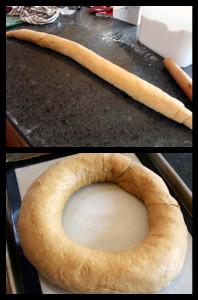 roll dough into circle