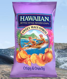 Crispy Chicken Tenders with Hawaiian Kettle Style Sweet Maui Onion Chips