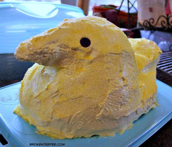 Spring Baking Fun – Bake a Cute Chick Cake, a Peep Cake