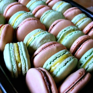 French Meringue Macaron Recipe from Macarons by Cecile Cannone with Cookbook Review