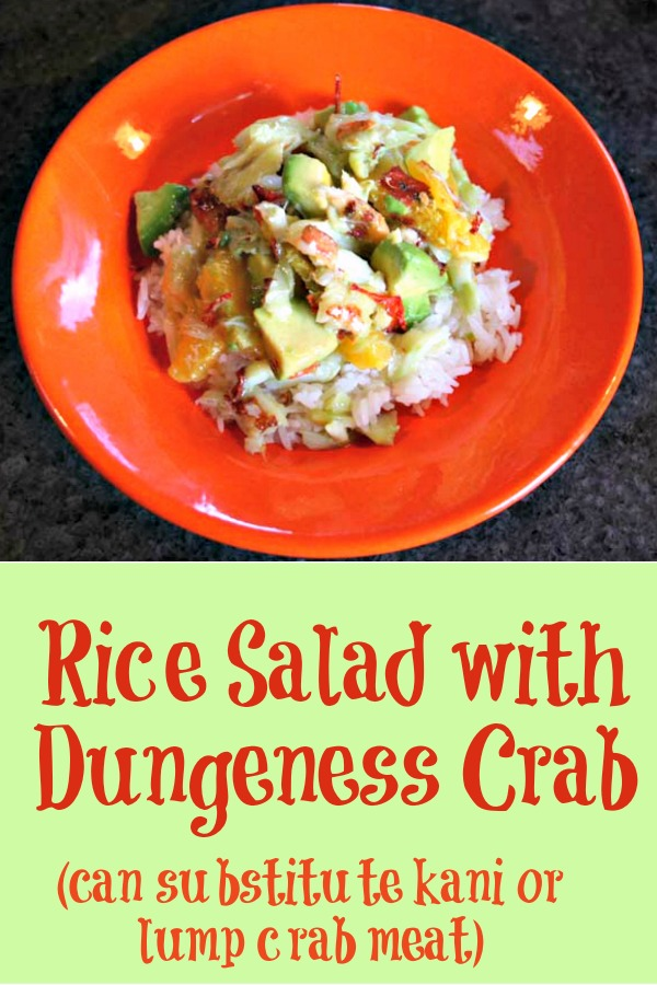 rice salad recipe, rice salad with dungeness crab, rice salad with crab recipe, AD