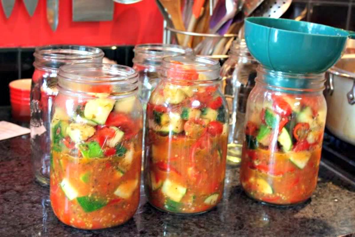 canning ratatouille, canning recipe