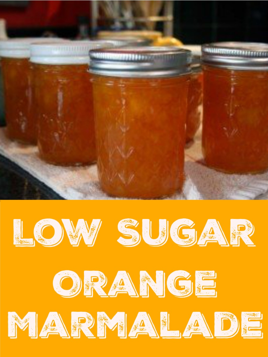 How to make orange marmalade with less sugar