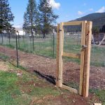 How to Put up a Fence and Build a Gate to Keep the Deer Out of Your Garden