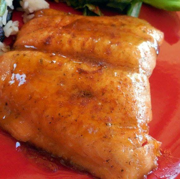 Salmon with Brown Sugar/Chipotle Glaze – Recipe