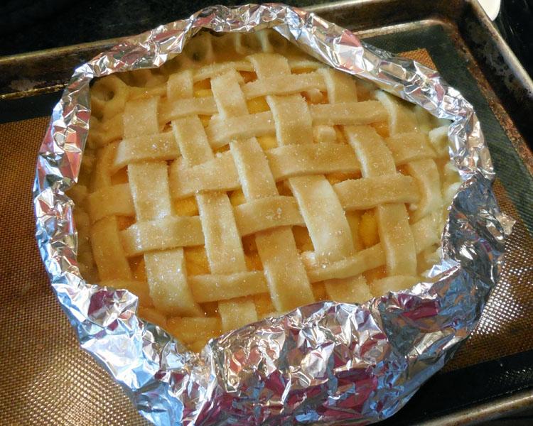 bake peach pie