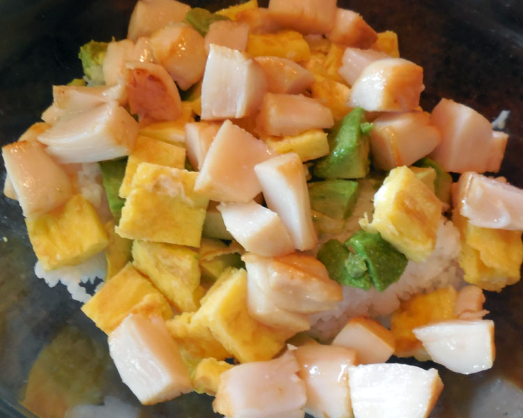 mix up the sushi salad