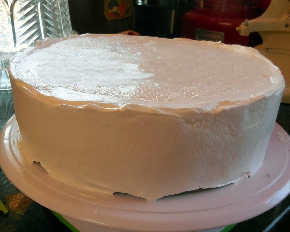 frost homemade ice cream cake