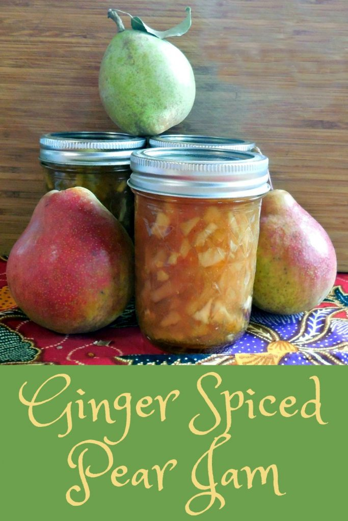 ginger spiced pear jam recipe