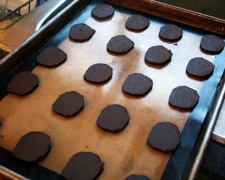 cut cookies on sheet