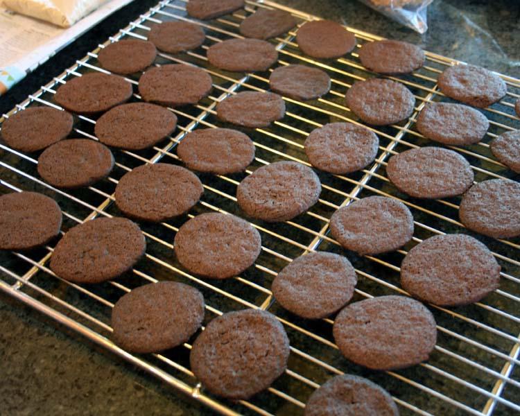 cool cookies on rack