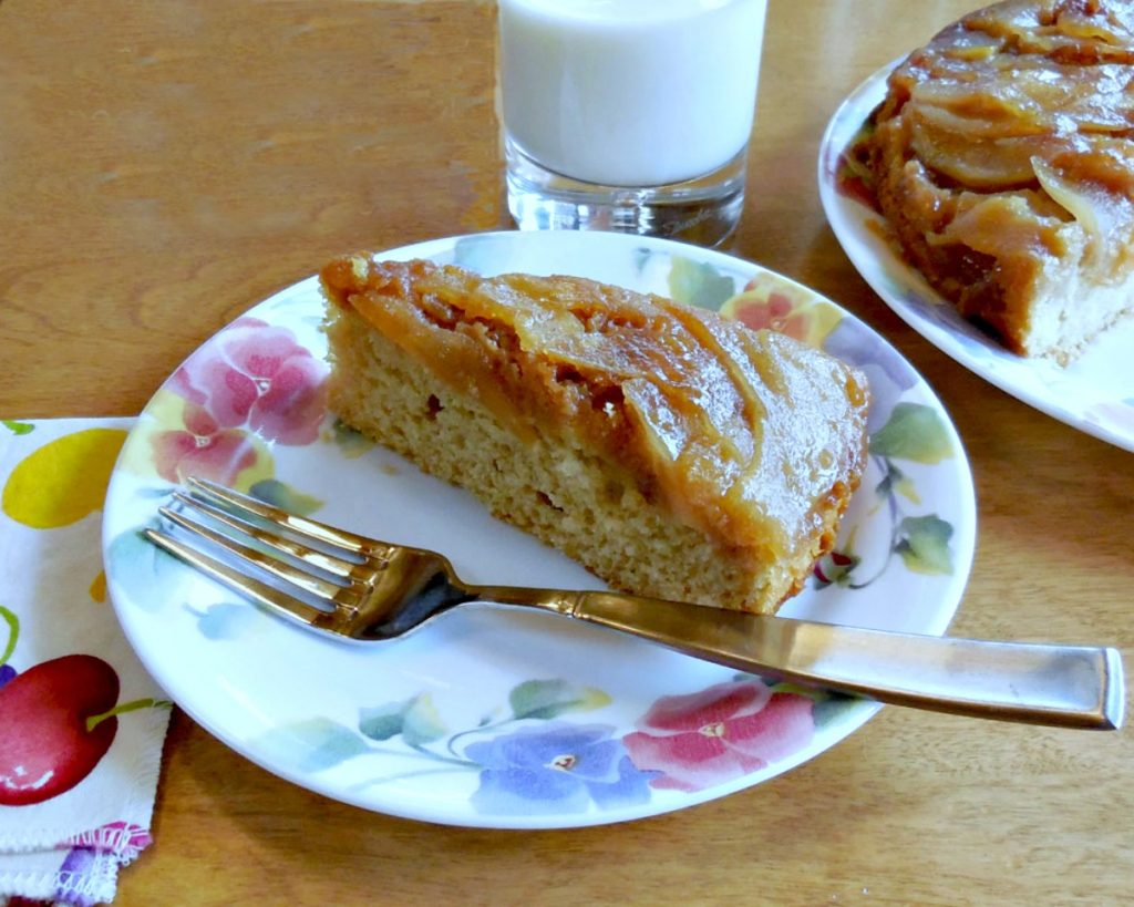 upside pear cake recipe with milk