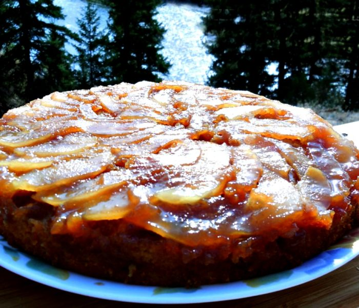 Caramelized Pear Upside Down Cake Recipe