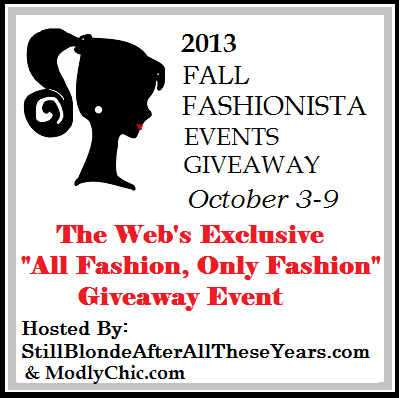 2013 Fall Fashionista Events Giveaway – It's Here! Enter to Win a Prize Package Worth over $240 #FashionistaEvents