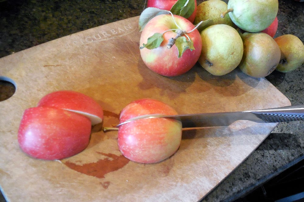 peel, core and cut apples