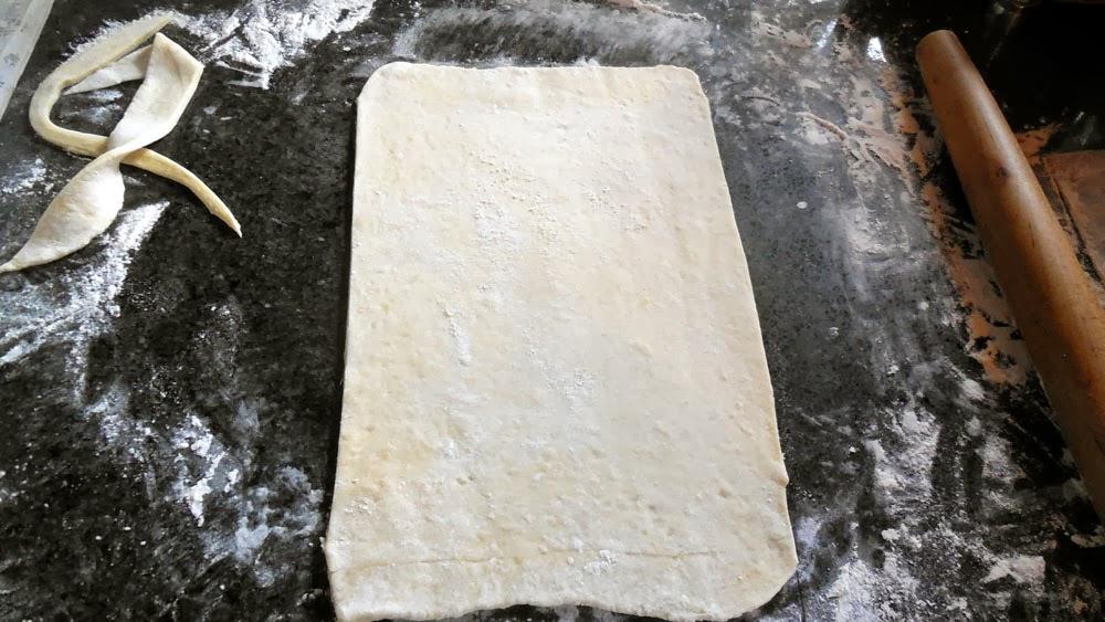 roll dough into rectangle