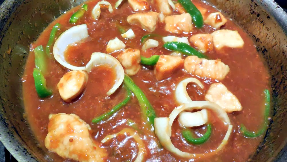 chicken in plum sauce, chicken recipe