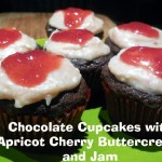 Baking for the Firemen – Chocolate Cupcakes with Apricot Cherry Buttercream and Jam