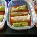 stuffed cabbage, freezer meals