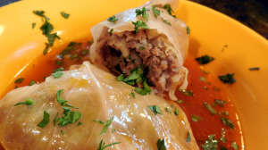 stuffed cabbage, freezer meals