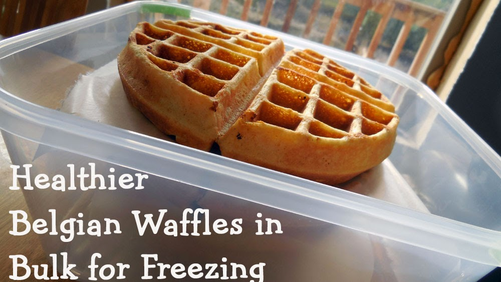 Making Waffles in Bulk for the Freezer