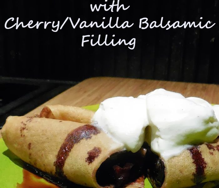 Blood Orange Crepes with Cherry/Vanilla Balsamic Filling – Recipe