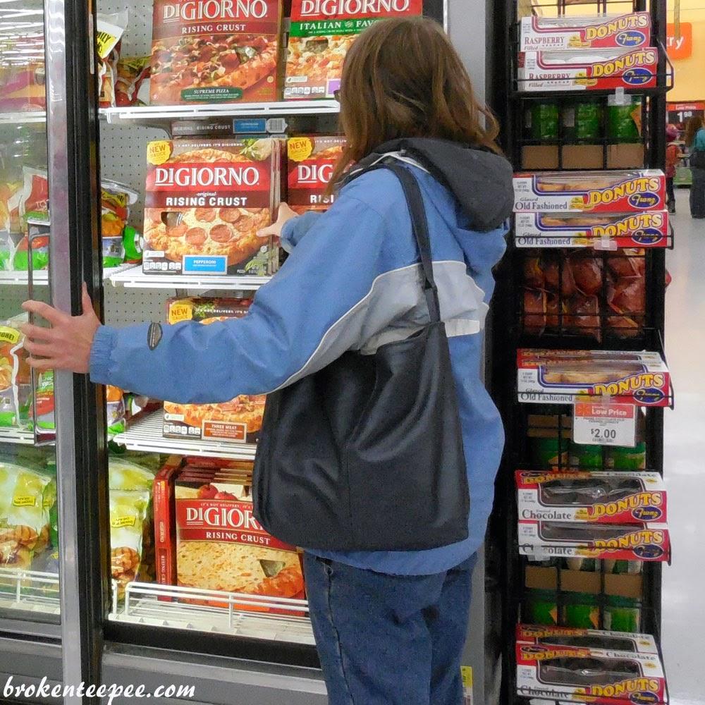 shopping in Walmart for DiGiorno Pizza, #spon, #shop, #cbias