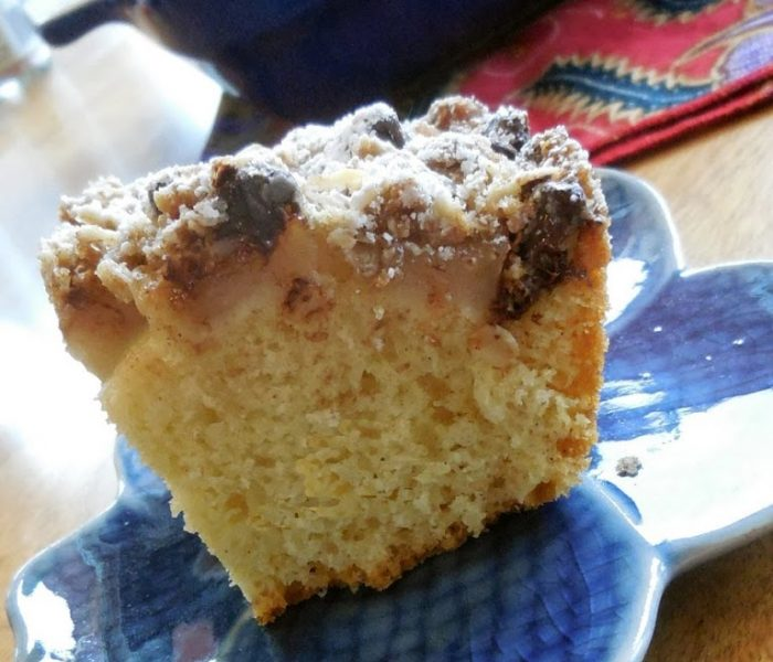 Coffee Cake Recipes – Pear Coffee Cake with Chocolate and Oat Streusel