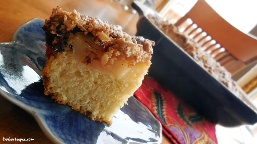coffee cake recipes, pear coffee cake