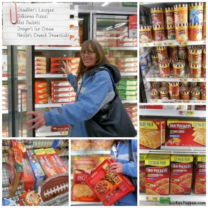 shopping at Walmart for Nestle's products, Dreyer's Ice Cream, Stouffer's Party Size Lasagna with Meat and Sauce, Hot Pockets, Nestle's Crunch Drumsticks, DiGiorno Pizza, #spon, #shop, #cbias