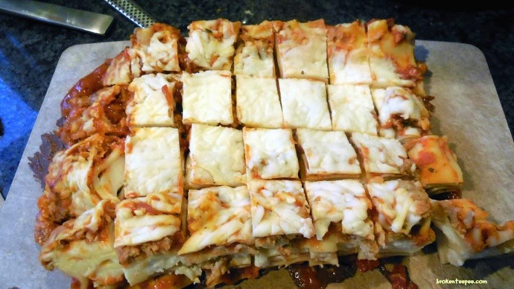 Stouffer's Party Size Lasagna cut up for Lasagna Soup, #spon, #shop, #cbias