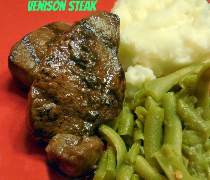 Dark Chocolate Balsamic and Cinnamon Marinated Venison Steak – Recipe
