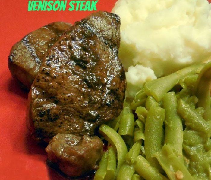 Dark Chocolate Balsamic and Cinnamon Marinated Venison Steak – Recipe