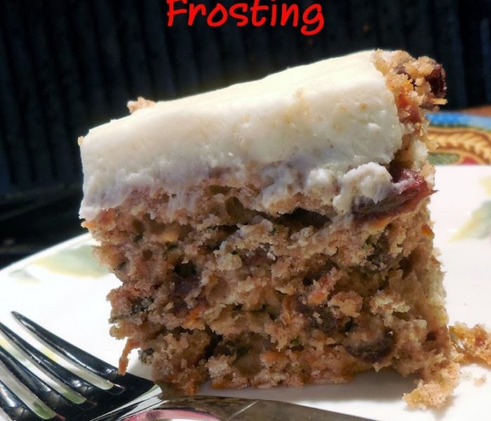 Baking for the Firemen: Spiced Carrot and Zucchini Cake with Cream Cheese Frosting – Recipe