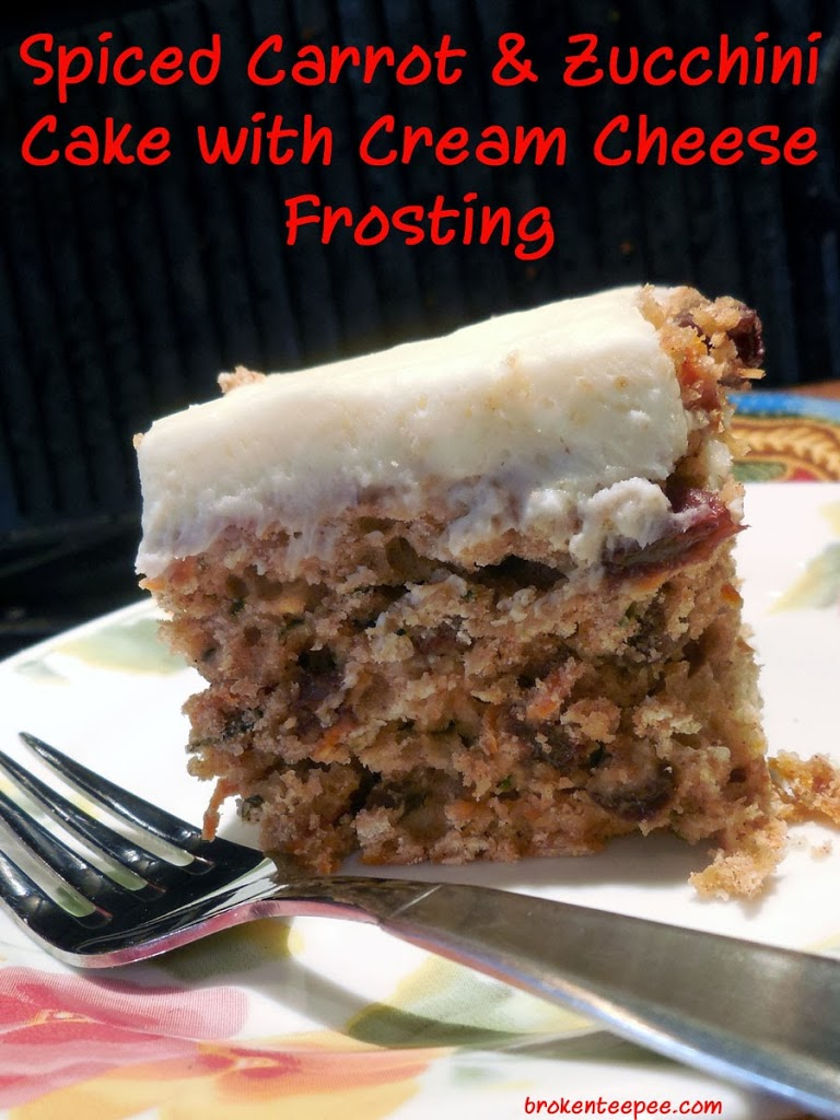 ... and Zucchini Cake with Cream Cheese Frosting - Recipe - Broken Teepee