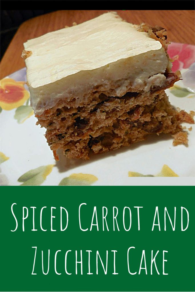 spiced carrot and zucchini cake
