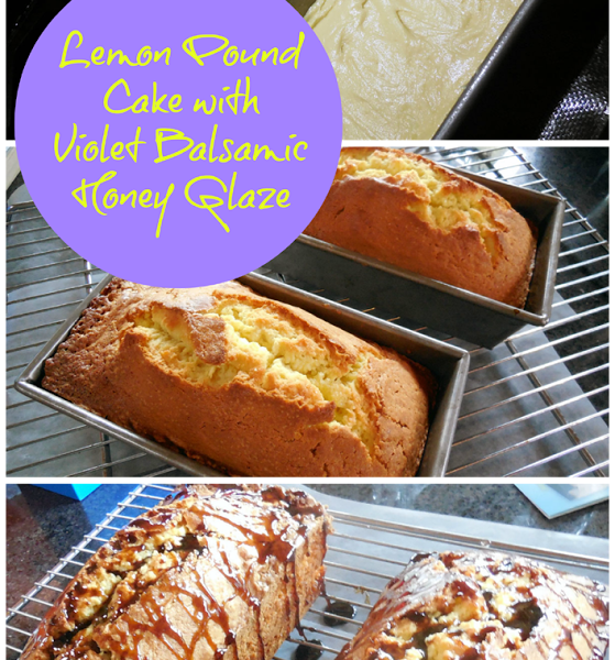 Baking for the Firemen:  Lemon Pound Cake with Violet Balsamic Honey Glaze