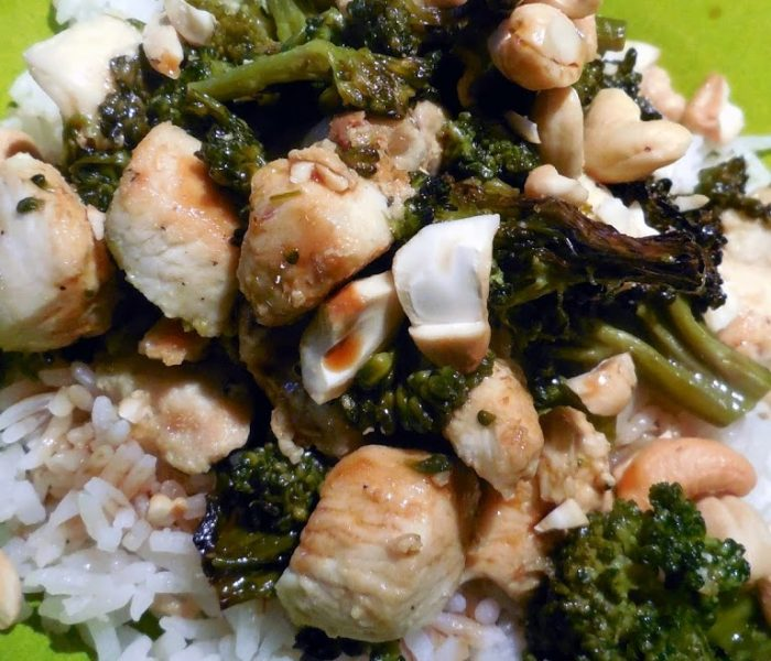 Persian Lime Chicken with Broccoli and Cashews on Jasmine Rice – Recipe
