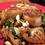 Scallops on Spinach, Onions and Apples – Recipe