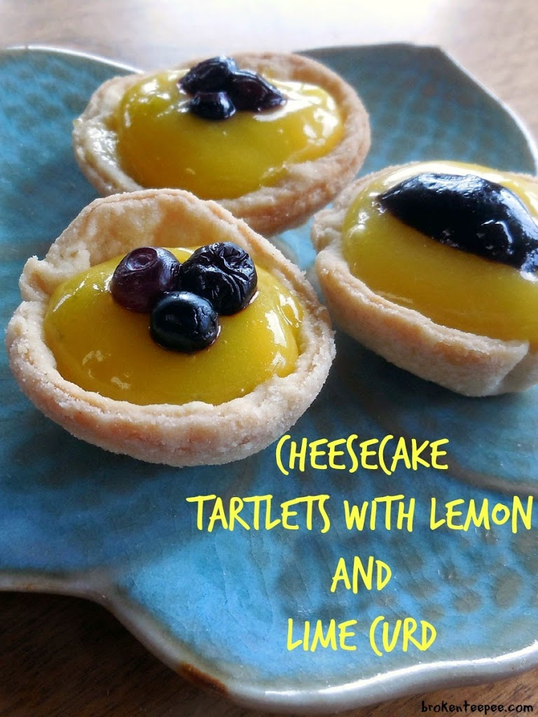 Cheesecake Tartlets with Lemon and Lime Curd, cheesecake tartlets