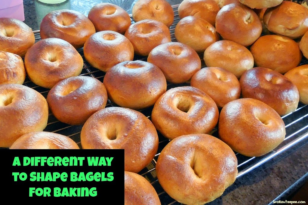 New way to shape bagels for making homemade bagels