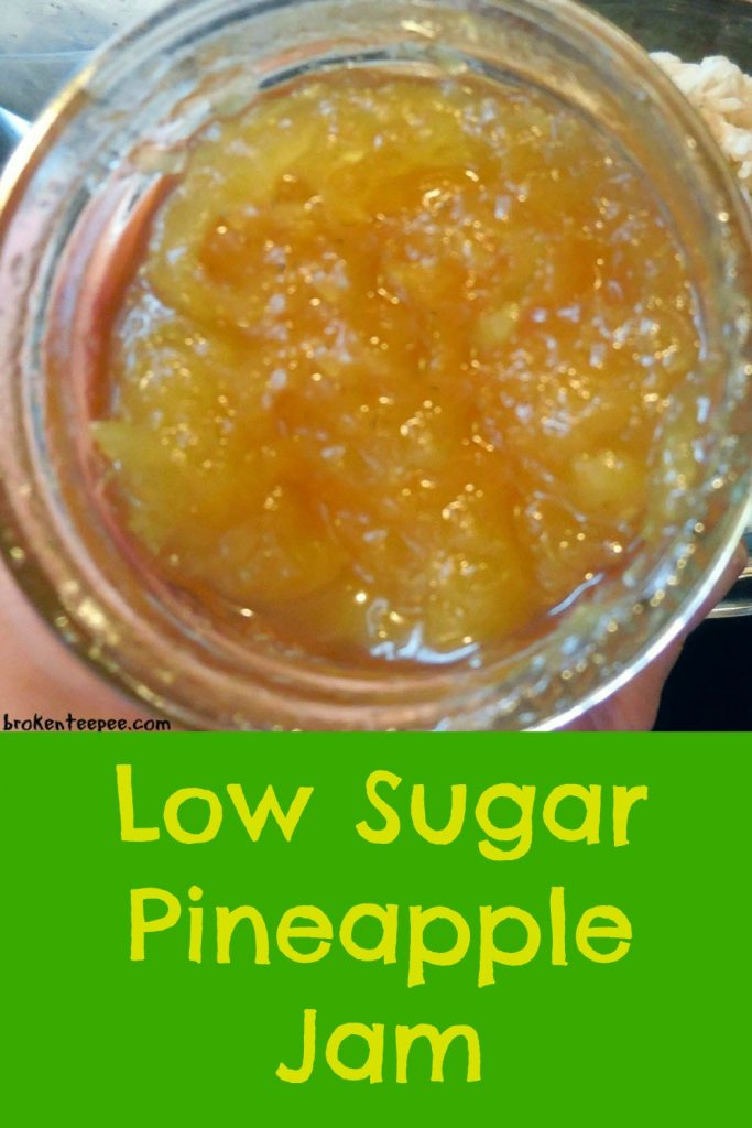 low sugar pineapple jam, pineapple jam recipes