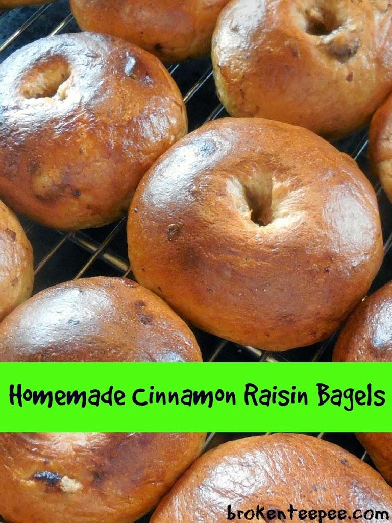 Homemade Cinnamon Raisin Bagels - Recipe - Broken Teepee