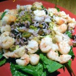 Cherry Pistachio Rice Salad with Langostinos – Recipe