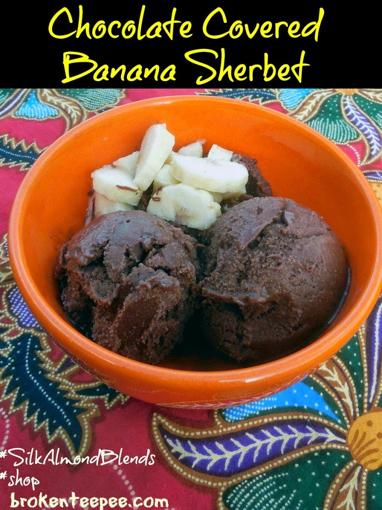Chocolate Covered Banana Sherbet, #SilkAlmondBlends, #shop, #cbias