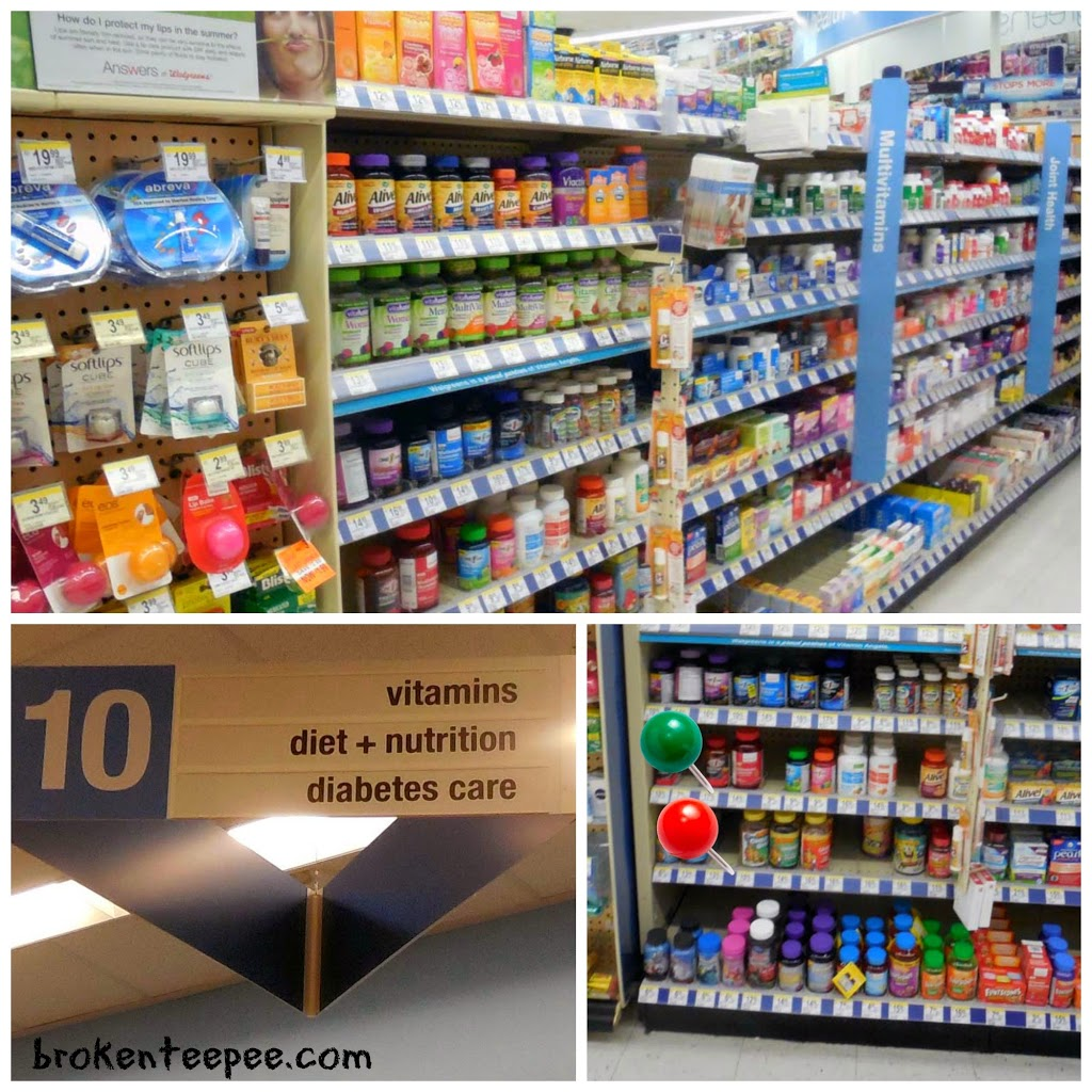 vitamin aisle at Walgreens, Walgreens, #HerHealth, #shop, #CollectiveBias