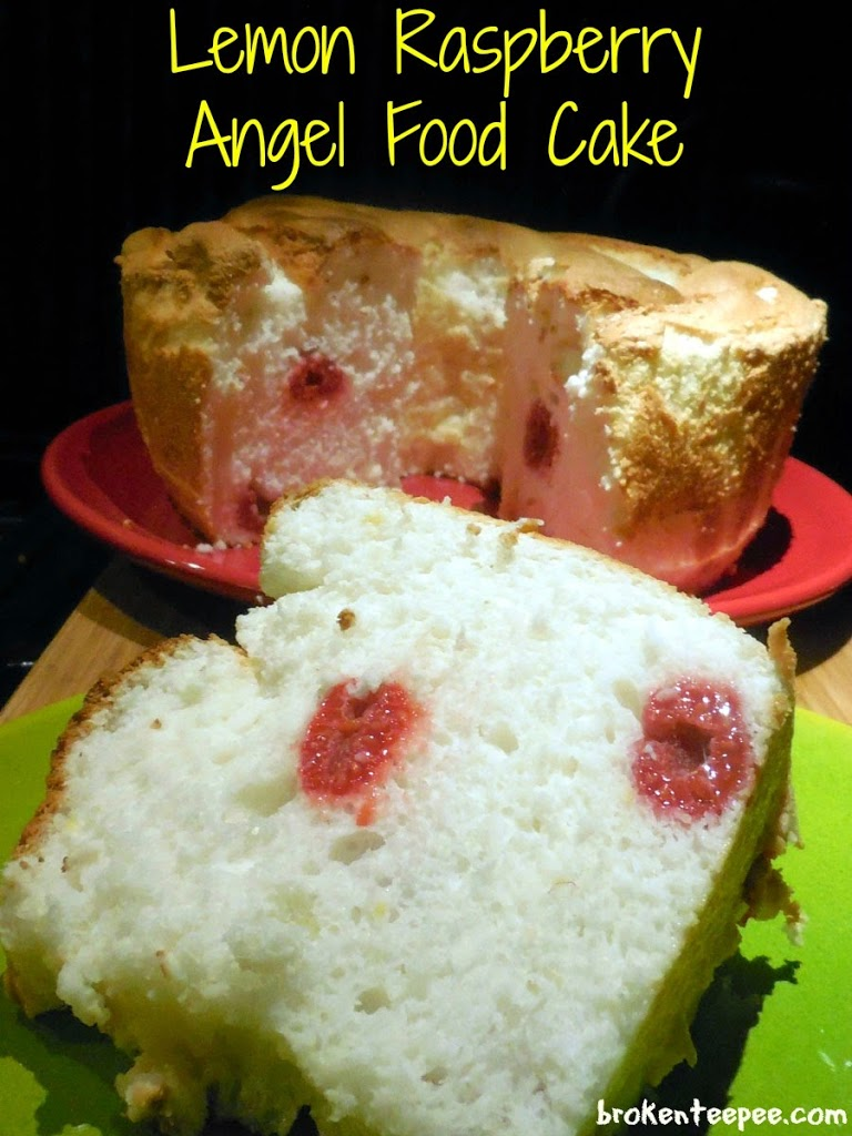 Lemon Raspberry Angel Food Cake, Reddi-wip®, #BerryJoyfulSweeps, #spon